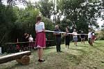 Obnovený rybník v Násedlovicích vyzkoušely nejdřív děti