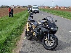 Za Strážnicí v sobotu havarovaly dvě motorky. Nehoda naštěstí nebyla vážná.