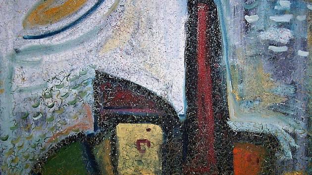 UFO, jak ho viděl, malíř Tomáš Prusenský namaloval do svého obrazu, jen ho zvětšil.