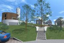 Vizualizace. Obec představila i původní návrhy budoucího vzhledu centra Bukovan. Ubyde stromů.