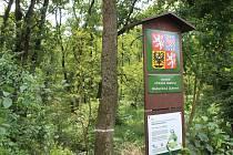 Vstup na území Národní přírodní památky Hodonínské Dúbravy mezi Hodonínem a Mutěnicemi.