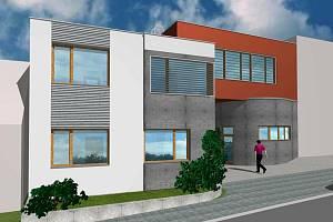 Plánovaný multifunkční dům ve Vacenovicích. Má dostat jméno Dana po slavné oštěpařce Zátopkové.