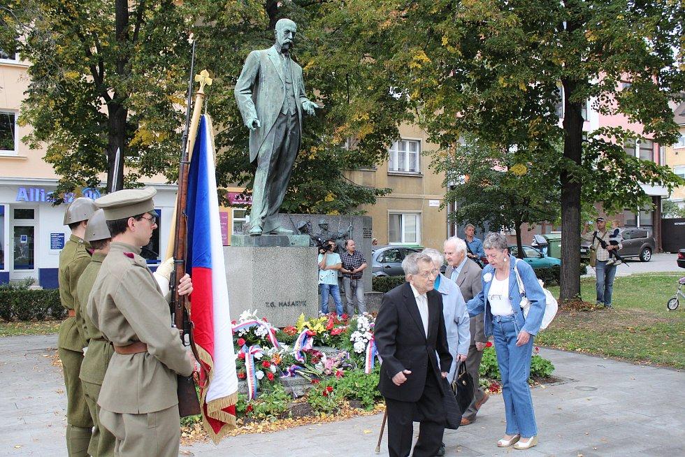 Pietní akt v Hodoníně u příležitosti osmdesáti let od úmrtí prvního československého prezidenta Tomáše Garrigua Masaryka.
