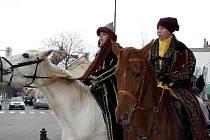 Tři králové projeli pátého ledna Hodonínem už tradičně na koních.