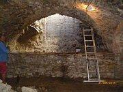 Rekonstrukce Habánského sklepa.