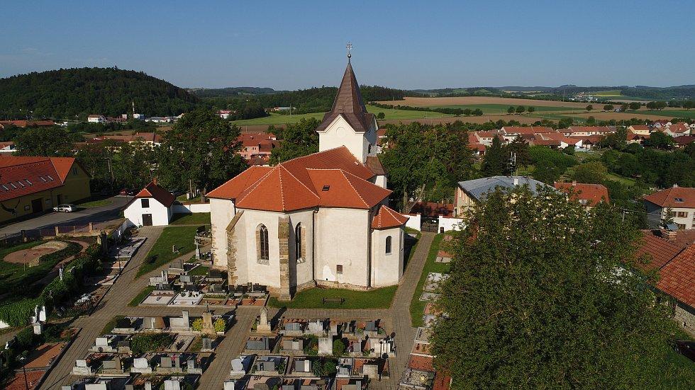 Kostel svatého Jiřího v Bořitově na Blanensku.