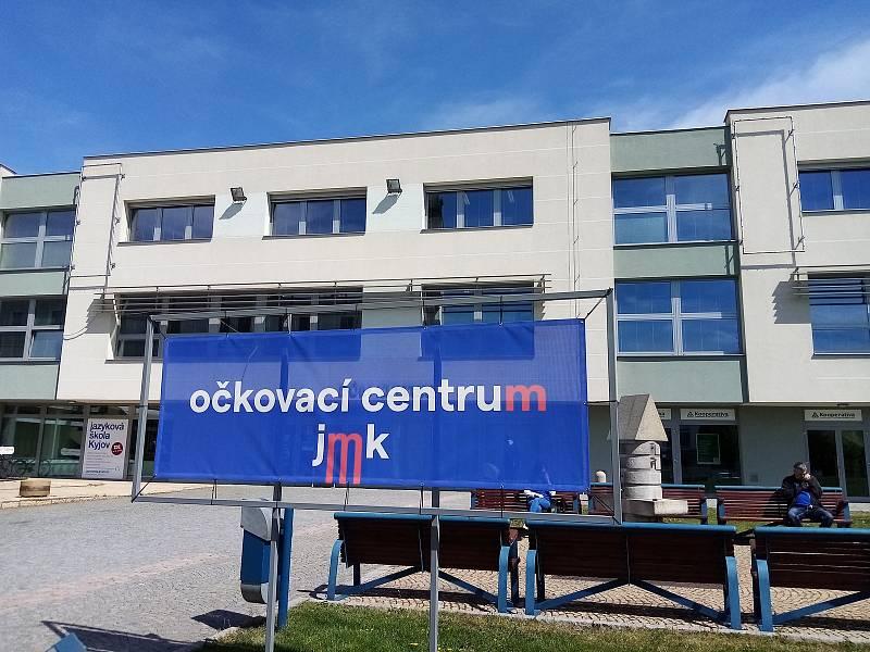 Očkovací centrum v Kyjově.