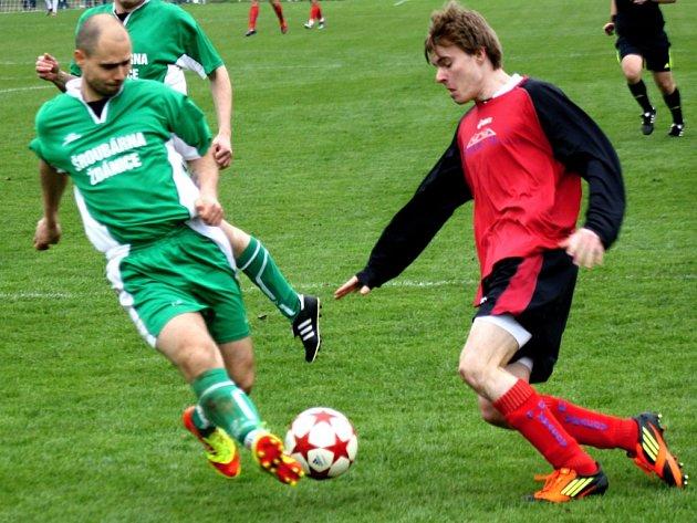 Fotbalisté Vracova (vpravo Petr Loprais) - ilustrační foto.