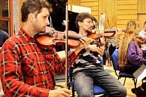 Výsledkem spojení klasiky s rockem v orchestrálním aranžmá bude album nazvané Rocková mše. Kromě muzikantů z Karlovarského symfonického orchestru, kteří včera nahrávali v dolnobojanovickém studiu, se na něm podílejí zpěváci z anglického Londýna.