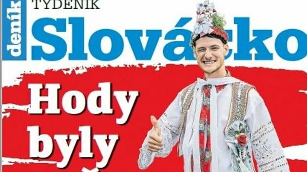 Titulní strana týdeníku Slovácko, 29. září.