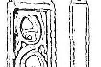 Bronzové kování opasku s rostlinným dekorem z Mikulčic.