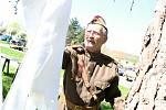 V Kyjově se jako připomínka 73. osvobození města uskutečnila bojová ukázka, k vidění byly rovněž dobové vojenské tábory.