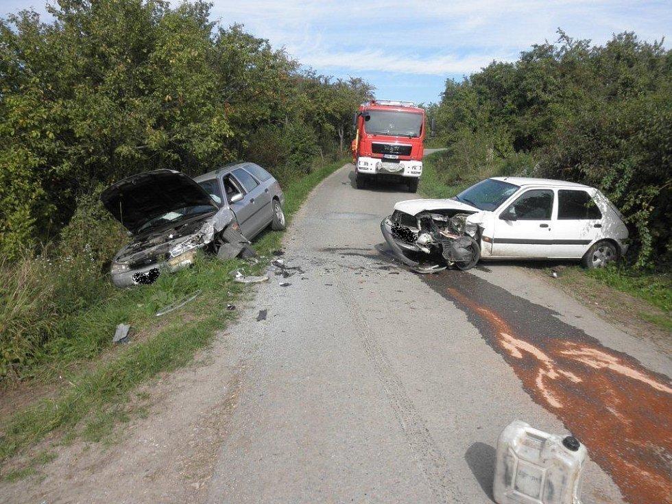 Dopravní nehoda ve Strážnici.