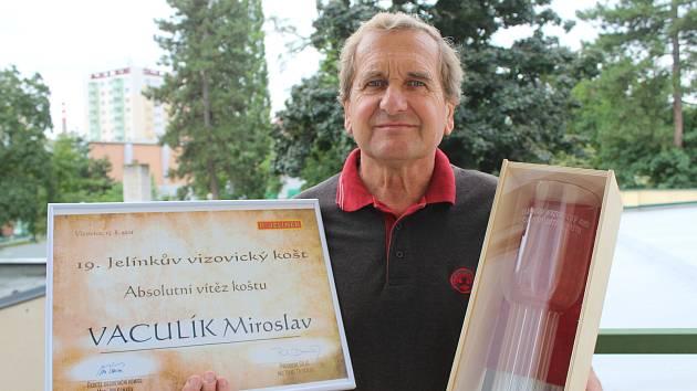 Absolutní vítěz 19. Jelínkova vizovického koštu Miroslav Vaculík z Vřesovic.