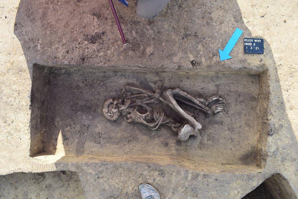Záchranný archeologický výzkum na jihu Kyjova pohřebiště z doby bronzové.