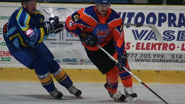2. liga: SHK Hodonín (v oranžovém) vs. HC Přerov