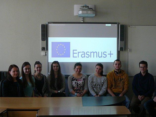 Studenti hodonínské obchodní akademie na návštěvě v rakouském Gänserndorfu.