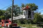 Veselští hasiči zasahovali v sobotu odpoledne v lanovém centru.