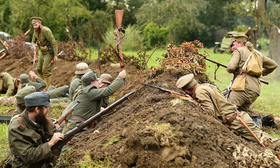Návštěvníci strážnického skanzenu si připomněli první světovou válku, československé legionáře i dvě významné bitvy.