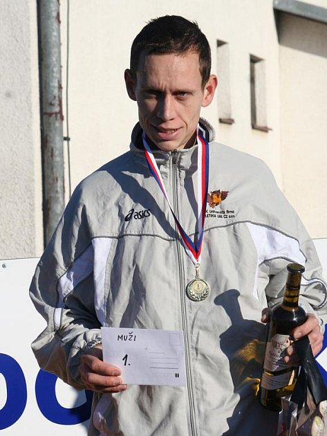 Vítěz Štěpánského běhu v Kyjově Martin Kučera.