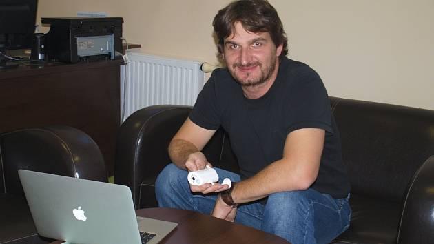 Majitel firmy Flajzar, která zvítězila v soutěži Firma roku 2013 Jihomoravského kraje, Tomáš Flajzar.
