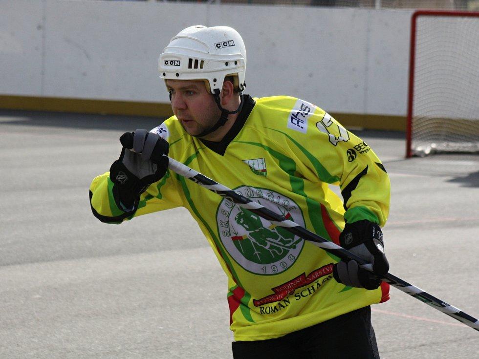 Zkušený útočník Martin Hujsa patřil k oporám Sudoměřic ve vyřazovacích bojích.