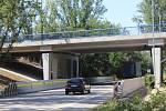 Otevření nového mostu přes silnici I/55 v Brněnské ulici v Hodoníně.