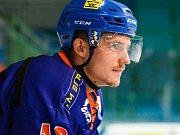 Čtyřiadvacetiletý útočník Michal Romančík skóroval v obou přípravných zápasech Drtičů před nadcházející sezonou.