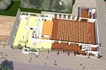 Studie vracovského obecního domu je hotová. Vznikne zde sál s pódiem, knihovna, informační centrum a kavárna.