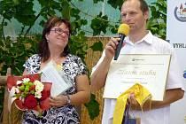 Na snímku starostka Tvarožné Lhoty Marina Bílová a místostarosta Vít Hrdoušek.