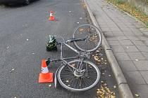 Auto srazilo ve Veselí nad Moravou cyklistu. Řidič nadýchal 0,4 promile.