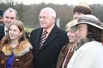 Prezident Václav Klaus navštívil Mikulčice