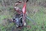 Nehoda Renaultu mezi Moravským Pískem a Polešovicemi.