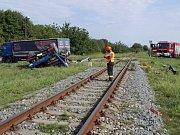 U Vnorov na Hodonínsku se na přejezdu srazil vlak a nákladní auto