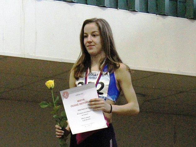 Mladá hodonínská běžkyně Michaela Knotková získala na republikovém šampionátu další mistrovský titul.