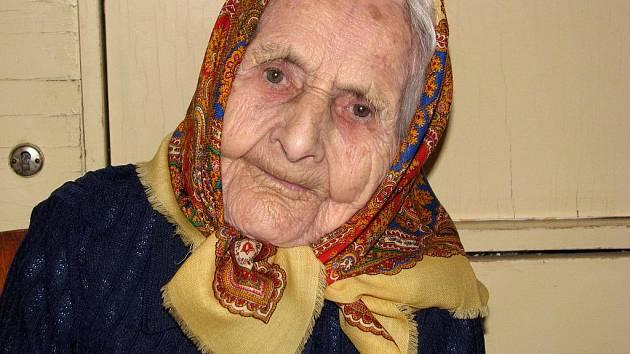 Mária Koláčková z Rohatce oslavila v roce 2010 106. narozeniny.