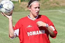 Hráčka Slovácka Nikola Sedláčková nastoupila v sobotu za rodný Domanín.