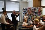 Slavnostní zahájení výstavy akademického malíře Františka Hanáčka v Kyjově.
