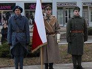 Účastníci vzpomínkového shromáždění u pomníku T. G. Masaryka v Hodoníně si připomněli 167. výročí narození svého rodáka a prvního československého prezidenta.