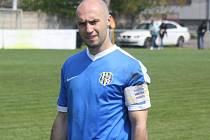 Ratíškovický kapitán Tomáš Kundrata (na snímku) zaznamenal v posledních dvou přípravných zápasech šest branek.