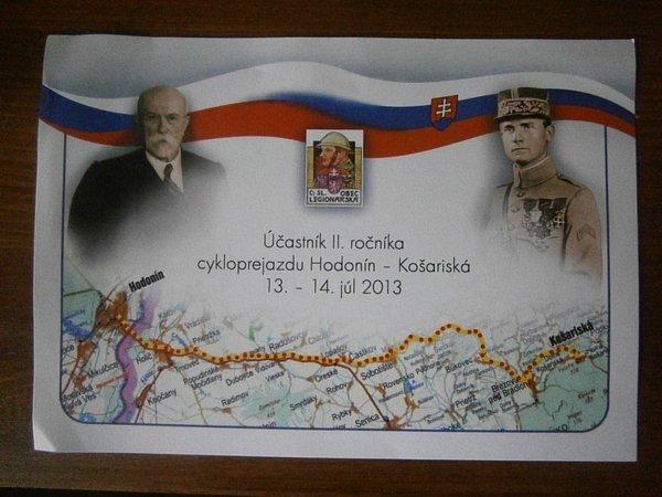 Spojit rodiště dvou zakladatelů československého státu Milana Rastislava Štefánika a Tomáše Garrigua Masaryka. To je záměr organizátorů Cyklopřejezdu Košariská Hodonín.