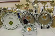 Výstava trofejí v rohatecké staré škole.