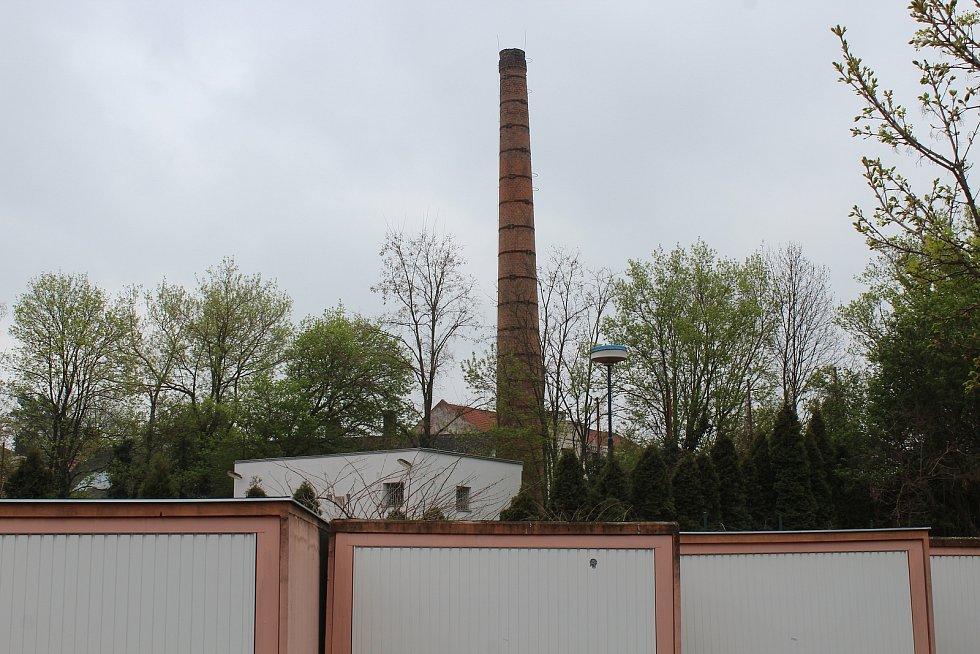 Chátrající areál mlékárny v Kyjově.