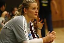 Slovenská brankářka Kristina Sedláčková patřila v derby s Olomoucí ke klíčovým hráčkám veselského týmu.