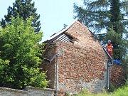 V Čejkovicích se zřítil dům, ve kterém několik let přebýval první československý prezident Tomáš Garrigue Masaryk.