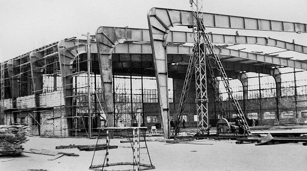Starý zimní stadion v Hodoníně.
