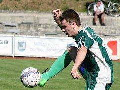 Mladý záložník Filip Chaloupka přispěl k postupu fotbalistů Dubňan do 1. kola Krajského poháru JmKFS.
