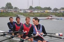 Pavel Tlach (zleva) v reprezentační čtyřce s Burzlou, Melicharem a Andrlem.