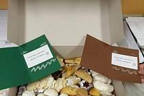 Děti z čejkovické mateřské školy, učitelky i rodiče připravili společně krabici plnou dobrot a dárečků pro personál nemocnice.