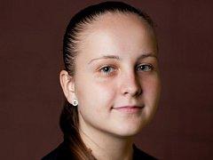 Devatenáctiletá pivotka Tereza Divílková, která tuto sezonu hraje házenou za klub SHK Veselí nad Moravou.